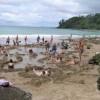 Hot tub + beach = perfection