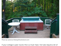 Entertaining at the Cottage with a Hot Tub