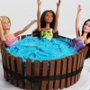 Hot Tub Birthday Cake
