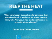 Thermal Foam from Hot Tub Covers Canada