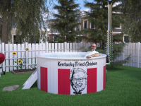 Is the latest KFC Innovations Lab Project a Fried Chicken Bucket-Shaped Hot Tub?