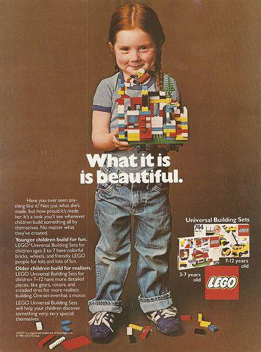 lego ad from 1973 what it is is beautiful