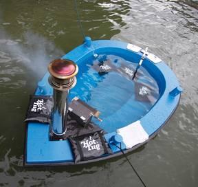 hot tub boat - the hot tug