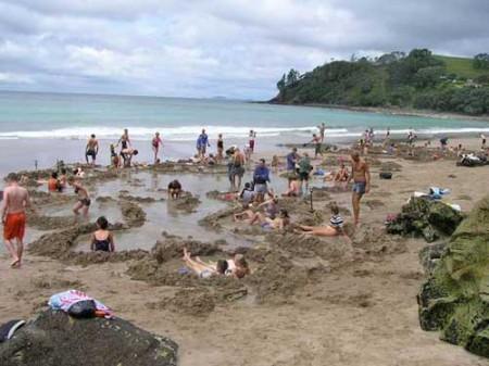 Hot Water Beach in New Zealand