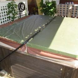 damaged hot tub cover