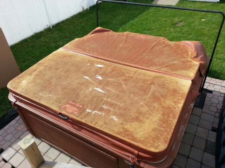 Old hot tub cover
