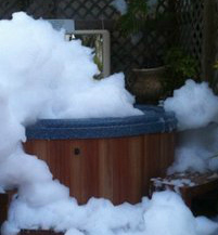 hot tub foam