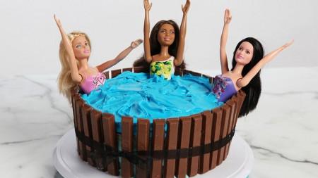 hot tub birthday cake