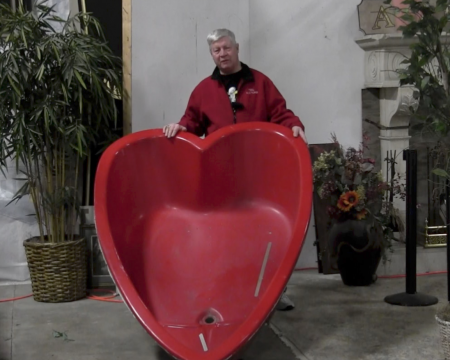 heart shaped hot tub auction